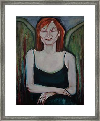 Framed Print featuring the painting Red-headed Angel by Irena Mohr