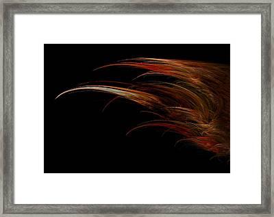 Red Headed Angel Wing Framed Print by Madeline  Allen - SmudgeArt