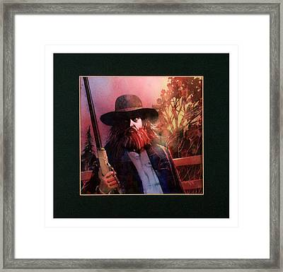 Red Headed Stranger Framed Print