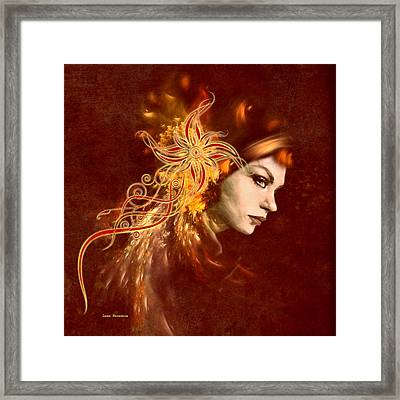 Red Headed Woman Abstract Realism Framed Print