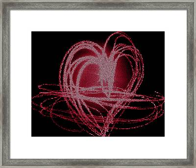 Red Heart Framed Print by Aya Murrells