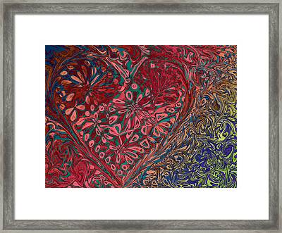 Red Heart Framed Print by David Pantuso
