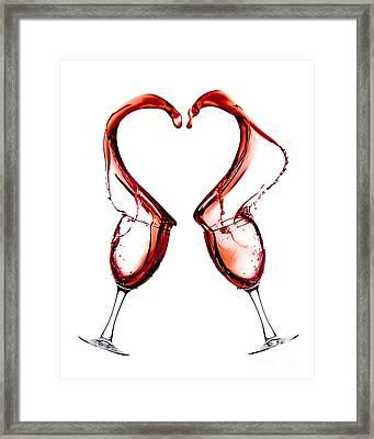 Red Heart Love Framed Print