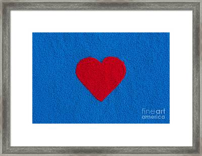 Red Heart Framed Print by Tim Gainey
