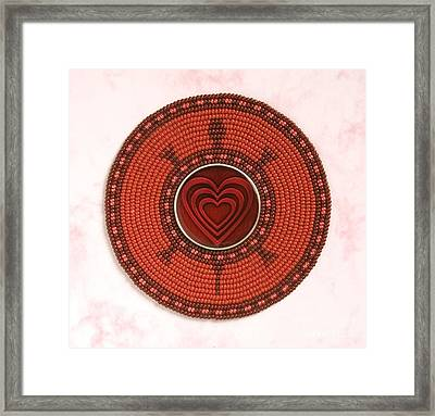 Red Heart Turtle Framed Print