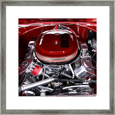 Red Hemi Sq Framed Print by Chris Thomas