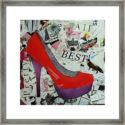 Red High Heel Framed Print by James Haddock