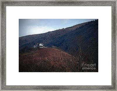 Red Hill House Framed Print by M Hess