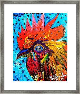 Red Hill Rooster Was Painted During Live Music Framed Print