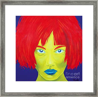 RED Framed Print by Holly Picano