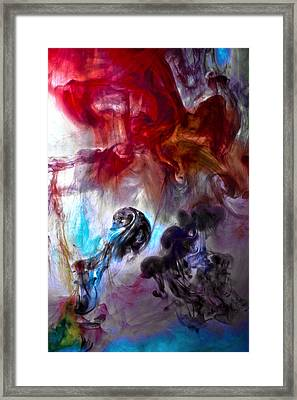 Red Horseman Framed Print by Petros Yiannakas