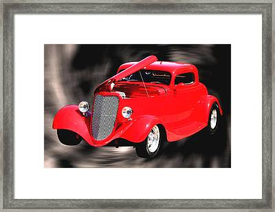 Red Hot And In A Swirl Framed Print