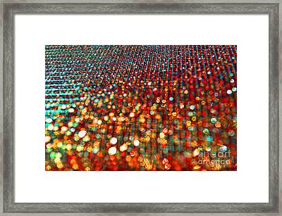 Red Hot Bokeh Bling Framed Print