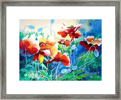 Red Hot Cool Blue Framed Print by Kathy Braud