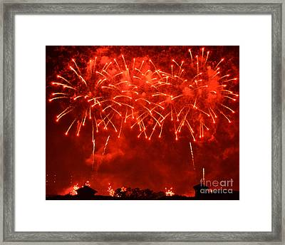 Red Hot Fireworks Framed Print
