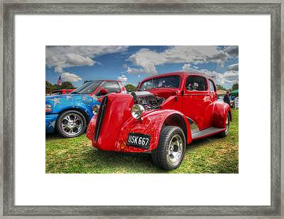 Red Hot Hot Rod Framed Print by Lee Nichols