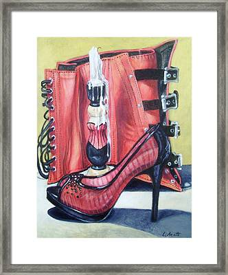 Framed Print featuring the painting Red Hot by Laura Aceto