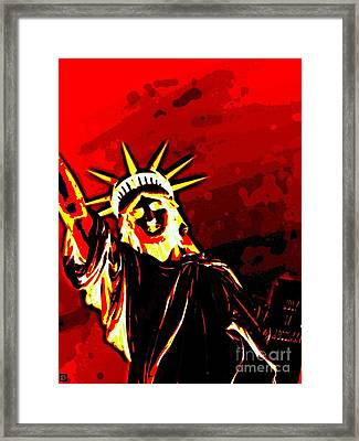 Red Hot Liberty Framed Print
