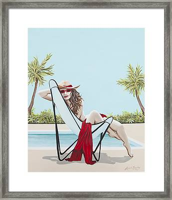 Red Hot Framed Print by Nickie Bradley