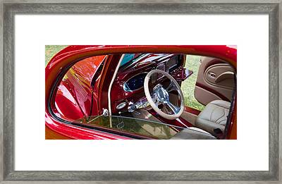 Framed Print featuring the photograph Red Hot Rod Interior by Mick Flynn