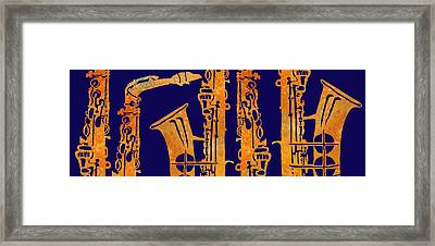 Red Hot Sax Keys Framed Print