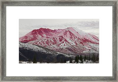 Red Hot St Helen Framed Print by Rich Collins