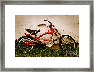 Red Hot Stingray Bike Framed Print by Sonja Quintero
