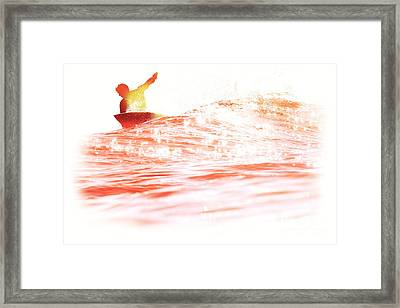 Red Hot Surfer Framed Print by Paul Topp