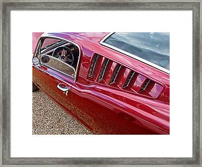 Red Hot Vents - Classic Fastback Mustang Framed Print by Gill Billington