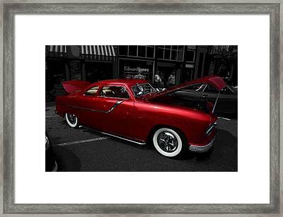 Red Hotrod Framed Print
