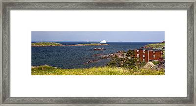 Red House By The Sea Framed Print by Patsy Zedar