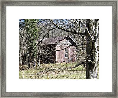 Framed Print featuring the photograph Red House by Nick Kirby