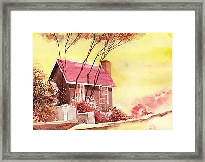Red House R Framed Print by Anil Nene
