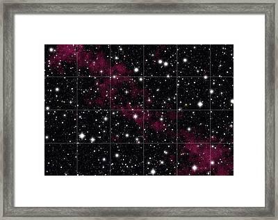 Red Hydrogen Nebula In Deep Space Framed Print