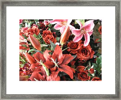 Red I Say Framed Print