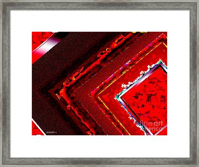 Red Lines Art  Framed Print by Mario Perez