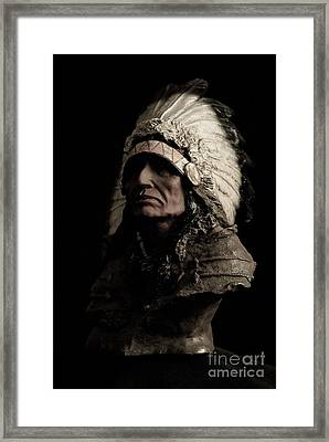 Red Indian Framed Print by Syed Aqueel