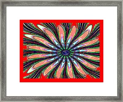 Red Intrusion Framed Print by Bruce Iorio