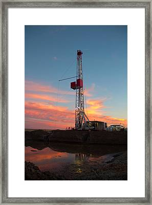 Red Iron Framed Print