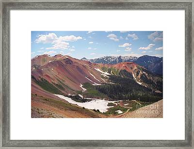 Red Iron Mountain Framed Print