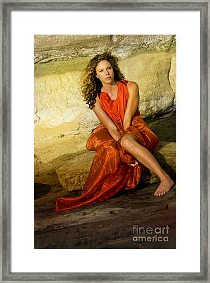 Red Is My Color Framed Print
