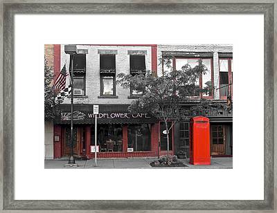 Red Is The Color Of The Day Framed Print