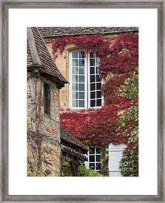 Framed Print featuring the photograph Red Ivy Window by Paul Topp