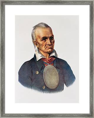 Red Jacket, Seneca War Chief, 1828, Illustration From The Indian Tribes Of North America, Vol.1 Framed Print by Charles Bird King