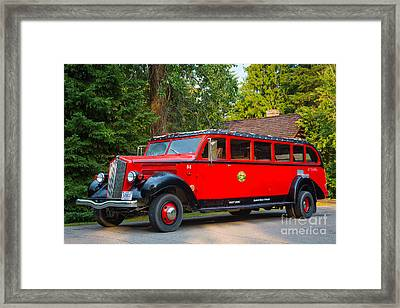 Red Jammer Framed Print by Inge Johnsson