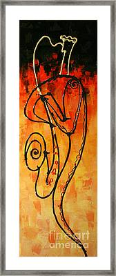 Red Jazz 1 Framed Print by Leon Zernitsky