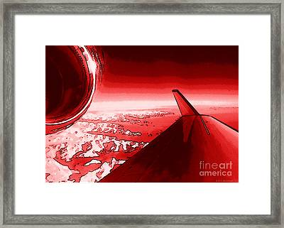 Red Jet Pop Art Plane Framed Print by R Muirhead Art