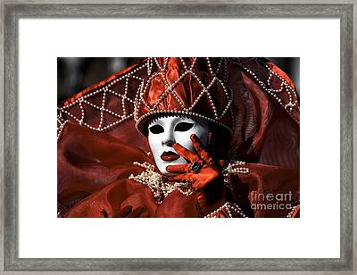 Red Framed Print by John Rizzuto