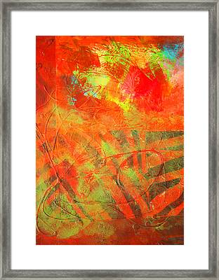Red Jungle Abstract Framed Print