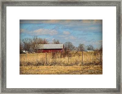 Red Kentucky Relic Framed Print by Paulette B Wright